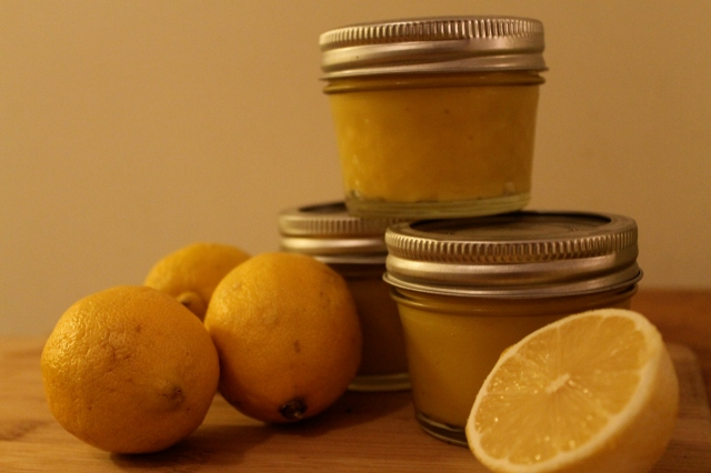 The finished product - Lemon Curd